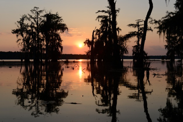 Sunset on the Bayou.