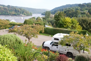 Looking across the River Dart towards Greenways, Agatha Christie's country home.