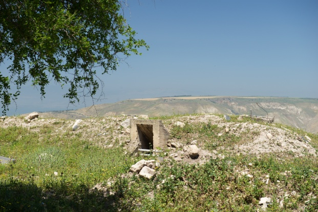Unused Jordanian army bunker facing Israel.