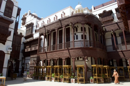 The wood from the facades came from India and Africa and was a measure of the wealth of Jeddah merchants.