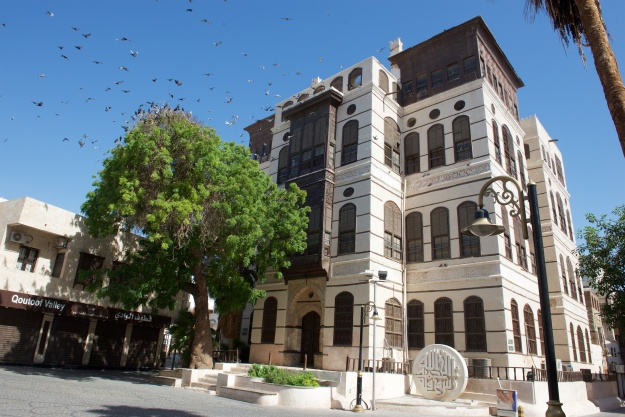 Home of a wealthy Jeddah merchant, previously used by the first king of Saudi Arabia, Abdul Azziz ibn Saud to hold audiences in Jeddah.