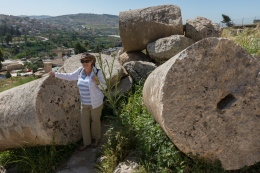Fallen columns at the Temple of Zeus. They are big!
