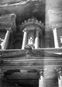 Picture Fred took of the Treasury, complete with light leakage. If you look very closely, you will note that the third pillar on the left is missing. It was re-erected sometime after the 1950's.