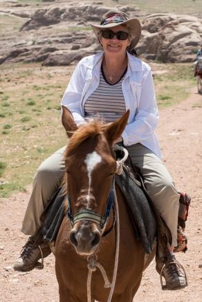 Denise LOVES riding horses!