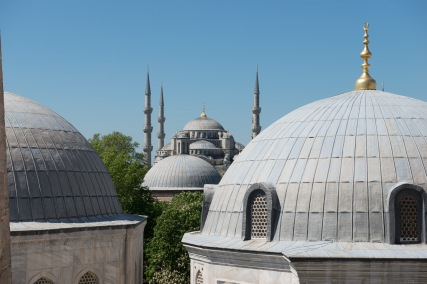 Blue Mosque from Hagia Sophia.