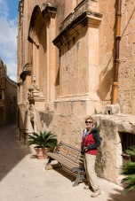 Mdina is famous for its curved streets.