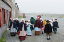 Children in period costume.