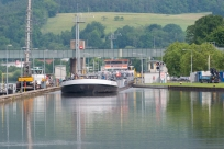 Waiting for a boat to leave the Lock