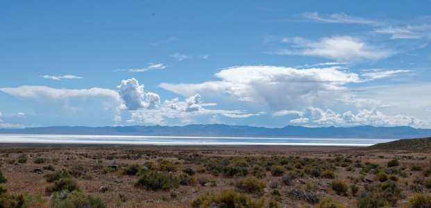 Sevier Dry Lake, Utah, with water.