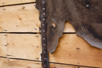 Tar paper weathering off of the old boards